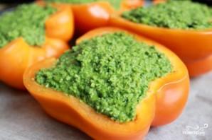 Перцы с зеленой пастой - фото шаг 5