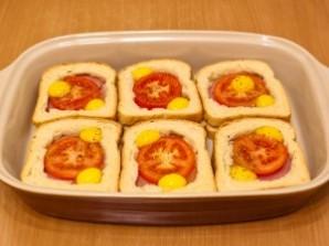 Горячие бутерброды с окороком, помидорами и яйцами - фото шаг 6