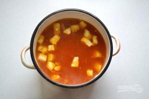 Томатный суп с булгуром - фото шаг 10