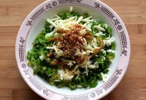 Фламенкины с начинкой из сыра, яйца и зеленого лука - фото шаг 1