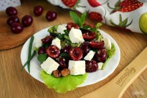 Салат с черешней и сыром - фото шаг 3