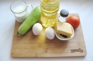 Омлет с сыром и кабачком - фото шаг 1