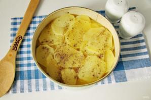 Пирог с картошкой и луком в духовке - фото шаг 9