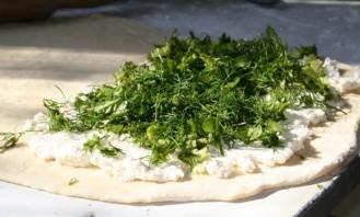Пирог с творогом и зеленью - фото шаг 3