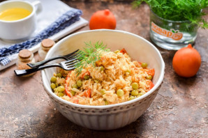 Жареный рис по-китайски - фото шаг 9
