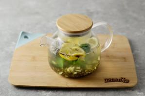 Согревающий чай с имбирем - фото шаг 5