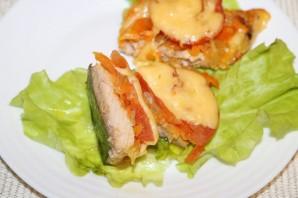 Горбуша с помидорами и сыром в духовке - фото шаг 14