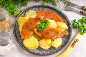 Картошка с мясом в духовке - фото шаг 5
