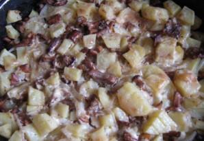 Лисички, запеченные под сыром - фото шаг 4