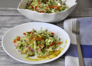 Салат из молодой зелёной капусты - фото шаг 11