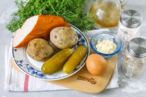 Салат с копченой курицей и картошкой - фото шаг 1