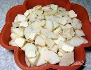 Заливная шарлотка с яблоками - фото шаг 4
