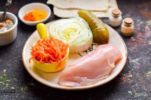 Шаурма с курицей и пекинской капустой - фото шаг 1