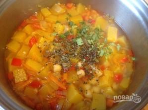 Тыквенный суп с нутом - фото шаг 8