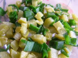Салат с семгой - фото шаг 5