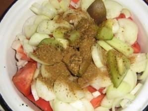 Шашлык из говядины с киви - фото шаг 2
