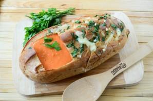 """Томатный суп в хлебе """"Ежик"""" - фото шаг 8"""