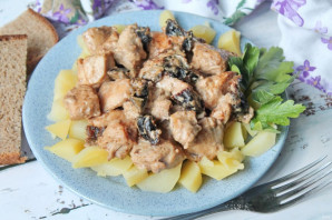 Куриное филе с черносливом - фото шаг 9