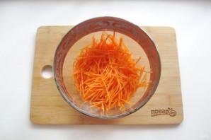 Морковь по-корейски с опятами - фото шаг 2