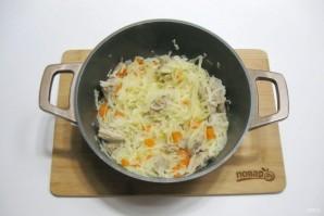 Рис с капустой и мясом - фото шаг 9