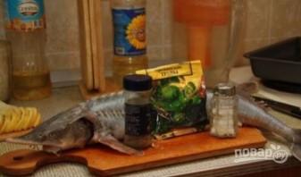 Стерлядь в духовке целиком (простой рецепт)  - фото шаг 4