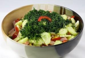Салат с яйцом и ветчиной - фото шаг 5