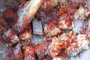 Венгерский суп-гуляш в хлебе - фото шаг 2