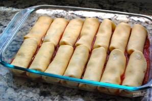 Маникотти из блинов с сырной начинкой - фото шаг 5
