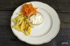 """Вкусный салат """"Сделай сам"""" - фото шаг 4"""