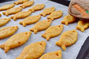 Сырные крекеры-рыбки - фото шаг 6
