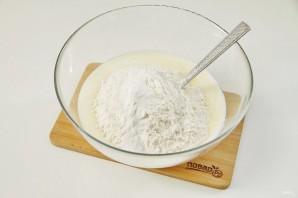 Заливной пирог с картошкой на кефире - фото шаг 7