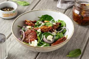 Салат с вялеными томатами - фото шаг 6