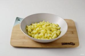 Салат с шампиньонами жареными - фото шаг 3