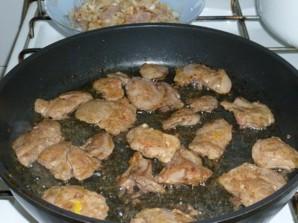 Куриная печень в сметане   - фото шаг 4