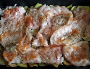 Курица с баклажанами в духовке   - фото шаг 6
