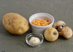 Крошка картошка с грибами - фото шаг 1