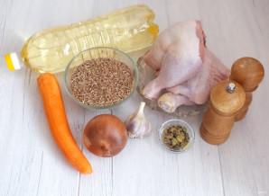 Плов из полбы с курицей - фото шаг 1