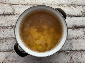 Постный гороховый суп с шампиньонами - фото шаг 8