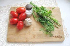 Засолка помидоров в кастрюле - фото шаг 1
