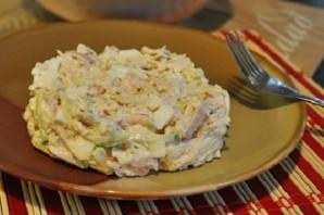 Салат с ветчиной и огурцами - фото шаг 5