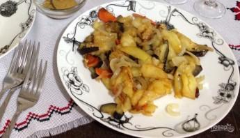 Баклажаны с картошкой - фото шаг 9