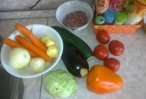Рагу с фаршем и овощами - фото шаг 1
