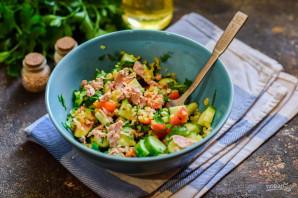 Салат с булгуром и тунцом - фото шаг 7