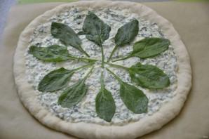 Пицца с зеленью и сыром - фото шаг 15