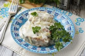 Горбуша в сметане на сковороде - фото шаг 8