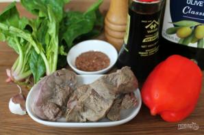 Салат с мясом и соевым соусом - фото шаг 1