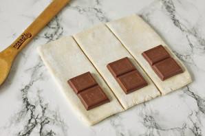 Слойки с шоколадом - фото шаг 3