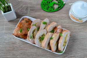 Куриные кармашки со шпинатом и чесноком - фото шаг 6