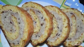 Мясной рулет в сырной корочке - фото шаг 7