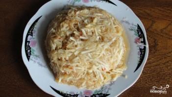Яблочный пирог с манкой - фото шаг 4